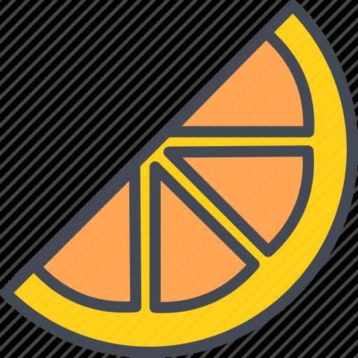 food, fruits, orange, slice icon