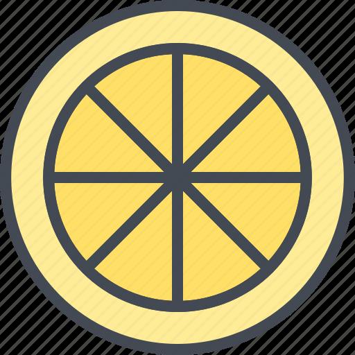 food, fruits, lemon, slice icon