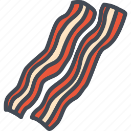 bacon, food, meat icon