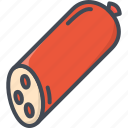 food, meat, salami icon