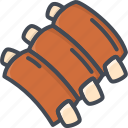 food, meat, ribs icon