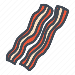 bacon, food, meat, stickers icon