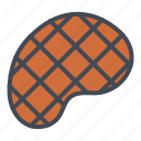 food, meat, steak, stickers icon