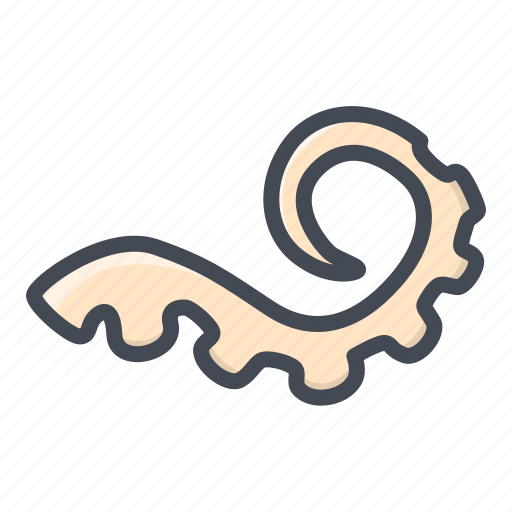 food, seafood, tentacle icon
