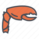 claw, crab, food, seafood icon
