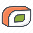 food, roll, seafood, sushi icon