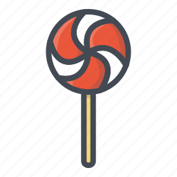 food, lollipop, stickers, sweets icon