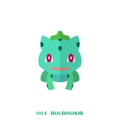 bulbasaur, grass, kanto, pokemon icon
