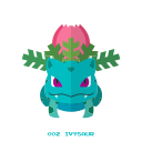 grass, ivysaur, kanto, pokemon icon