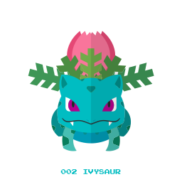 grass, ivysaur, kanto, pokemon icon