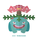 grass, kanto, pokemon, venasaur icon