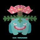grass, kanto, pokemon, venasaur icon