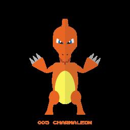 charmeleon, fire, kanto, pokemon icon