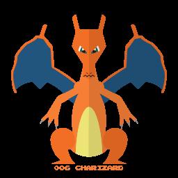 charizard, fire, kanto, pokemon icon