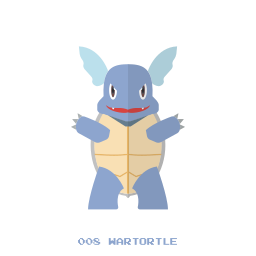 kanto, pokemon, wartortle, water icon