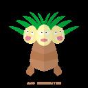exeggutor, grass, kanto, pokemon, psy icon