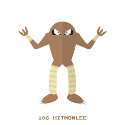 fight, hitmonlee, kanto, pokemon icon