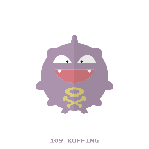 kanto, koffing, poison, pokemon icon