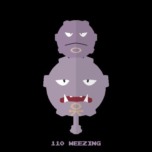 kanto, pokemon, veneno, weezing icon