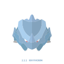 kanto, piedra, pokemon, rhyhorn, tierra icon