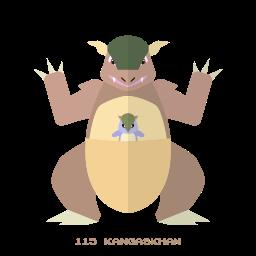 kangaskhan, kanto, normal, pokemon icon