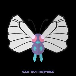 bug, butterfree, fly, kanto, pokemon icon