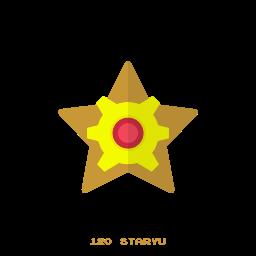 kanto, pokemon, staryu, water icon