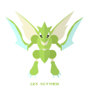 bug, kanto, pokemon, scyther icon