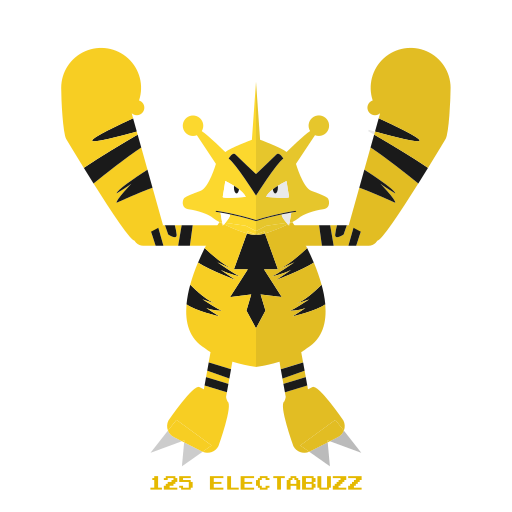 electabuzz, electr, kanto, pokemon icon