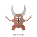 bug, kanto, pinsir, pokemon icon