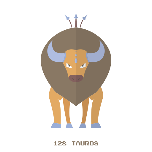 kanto, normal, pokemon, tauros icon