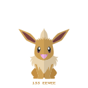 eevee, kanto, normal, pokemon icon