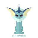 agua, kanto, pokemon, vaporeon icon
