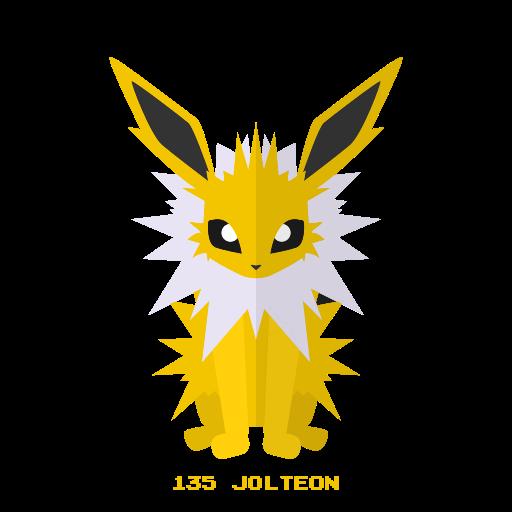 electricidad, jolteon, kanto, pokemon icon