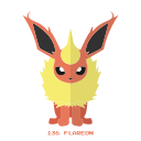 flareon, fuego, kanto, pokemon icon
