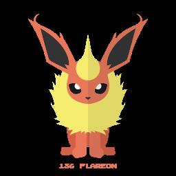 flareon, fuego, kanto, pokemon icon