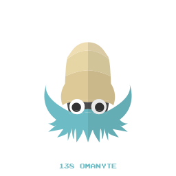 kanto, omanyte, pokemon, water icon
