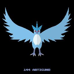 articuno, ice, kanto, pokemon icon