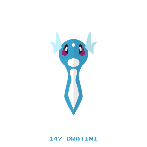 dragon, dratini, kanto, pokemon, water icon