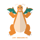 dragon, dragonite, kanto, pokemon icon