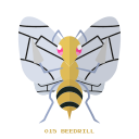 beedrill, bug, kanto, pokemon icon