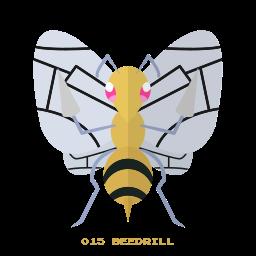 beedrill, bug, kanto, pokemon icon