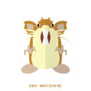 kanto, normal, pokemon, raticate icon