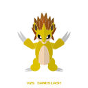 ground, kanto, pokemon, sandslash icon