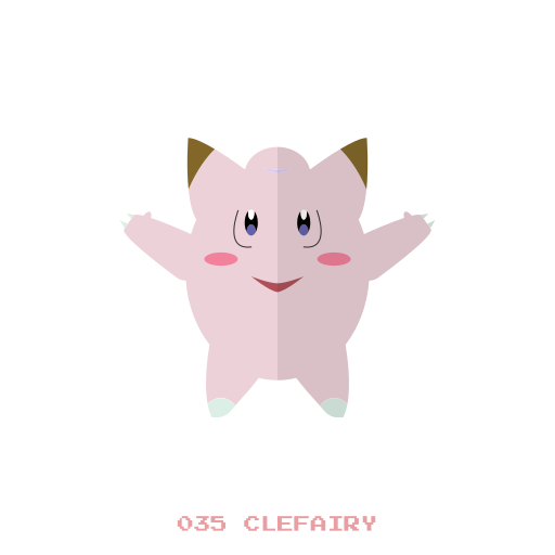clefairy, kanto, normal, pokemon icon