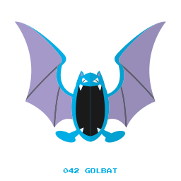 flying, golbat, kanto, poison, pokemon icon