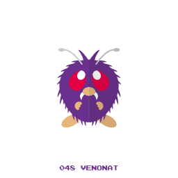 bug, kanto, pokemon, venonat icon