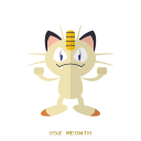 kanto, meowth, normal, pokemon icon