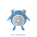 kanto, pokemon, poliwhirl, psy, water icon