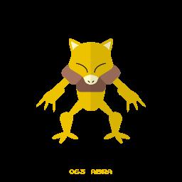 abra, kanto, pokemon, psy icon